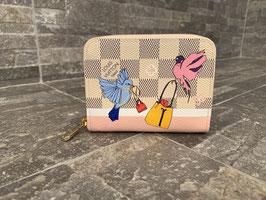 Louis Vuitton Damier Azur Flying Birds Zippy Coin Geldbörse