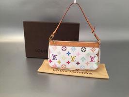 Louis Vuitton Monogram Multicolore Pochette Accessoires in Weiß