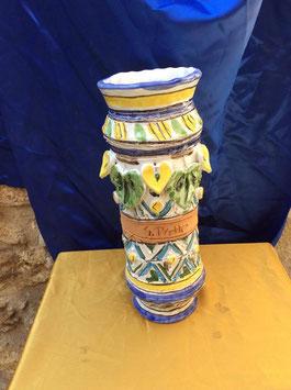 V39 Vaso Albarello Tonalità Gialla