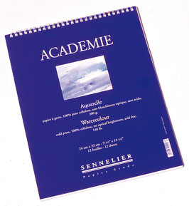 """Sennelier """"Academie"""" Watercolour Pads 24x32cm"""