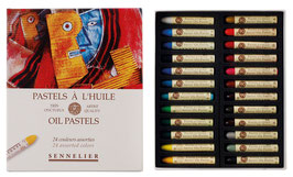 Sennelier Oil Pastels Box - 24 Assorted Colours