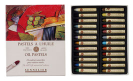 Sennelier Oil Pastels Box - 24 Still Life Colours