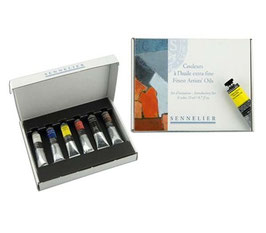 Sennelier Extra-Fine Artists' Oil Color - 6 Tubes Discovery Set 21 ml
