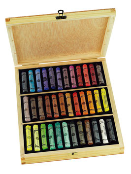 Sennelier Soft Pastel 36 Colours Wood Box Set