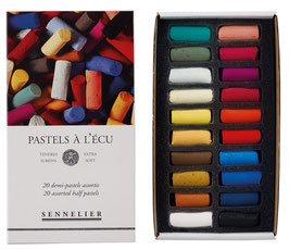 "Sennelier 1/2 Size Soft Pastels ""A L'Ecu"" - Assorted Cardboard Set - 20"