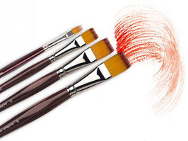 Da Vinci Vario-Tip Flat Brushes - Series 1381