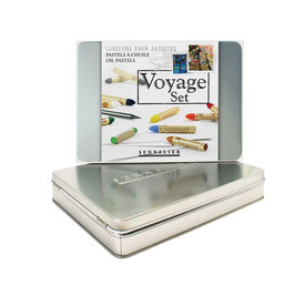 Sennelier Oil Pastels Voyage Metal Box Set - 12