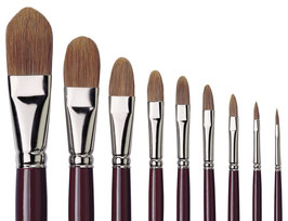 Da Vinci Light Ox Hair Filbert Brush - Series 1865