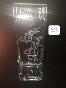 Vase carré de 30cm et 10x10 cm