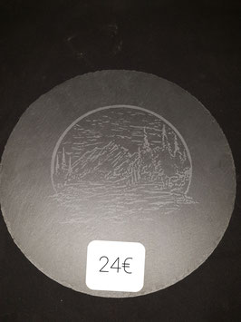 Plateau ardoise rond diamètre 30 cm