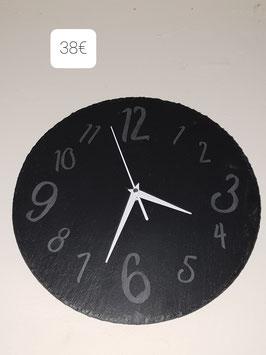 Horloge ronde en ardoise