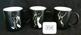 Ensembles de 3 mugs corps de  femmes