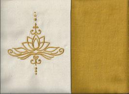 Lotusblüte Naturweiß + Ockergelb