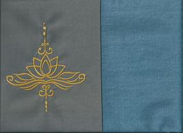 Lotusblüte Grau + Schwedenblau