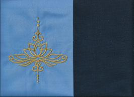 Lotusblüte Hellblau + Marine