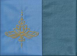 Lotusblüte Hellblau + Schwedenblau