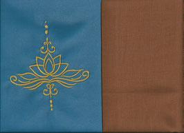Lotusblüte Blau + Hellrost