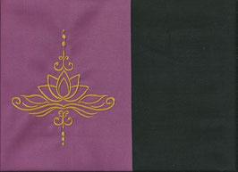 Lotusblüte Altrosa + Schokobraun