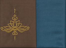 Lotusblüte Braun + Rauchblau