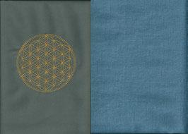 Blume des Lebens Grau + Schwedenblau