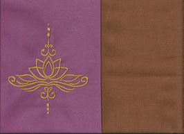 Lotusblüte Altrosa + Hellrost