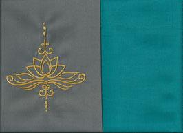 Lotusblüte Grau + Smaragt