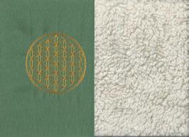 Blume des Lebens Mintgrün + Baumwollplüsch