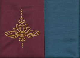 Lotusblüte Bordeaux + Rauchblau