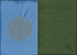 Blume des Lebens Hellblau+ Moosgrün
