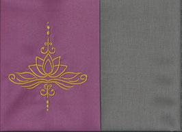 Lotusblüte Altrosa + Steingrau