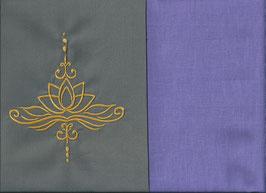 Lotusblüte Grau + Flieder