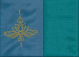 Lotusblüte Blau + Smaragt