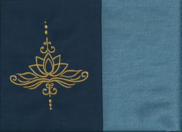 Lotusblüte Marine + Schwedenblau