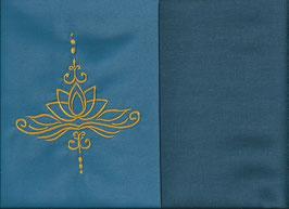 Lotusblüte Blau + Rauchblau