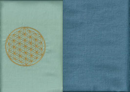 Blume des Lebens Hellmint+ Schwedenblau