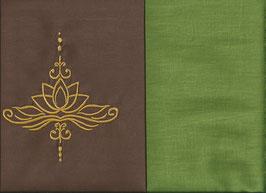 Lotusblüte Braun + Pistazie