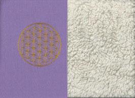 Blume des Lebens Flieder + Baumwollplüsch