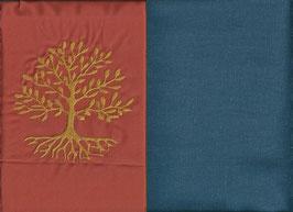 Lebensbaum Orange + Rauchblau