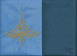 Lotusblüte Hellblau + Rauchblau