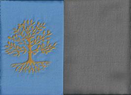 Lebensbaum Hellblau + Steingrau