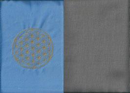 Blume des Lebens Hellblau+ Steingrau