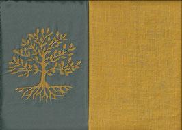 Lebensbaum Grau + Ockergelb