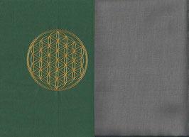 Blume des Lebens Grün + Steingrau