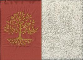 Lebensbaum Orange + Baumwollplüsch