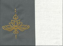 Lotusblüte Grau + Creme