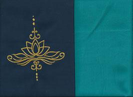 Lotusblüte Marine + Smaragt