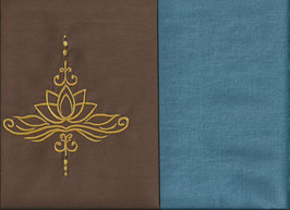 Lotusblüte Braun + Schwedenblau
