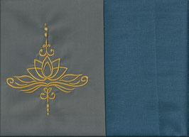 Lotusblüte Grau + Rauchblau