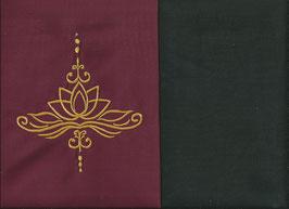 Lotusblüte Bordeaux + Schokobraun