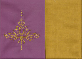 Lotusblüte Altrosa + Ockergelb